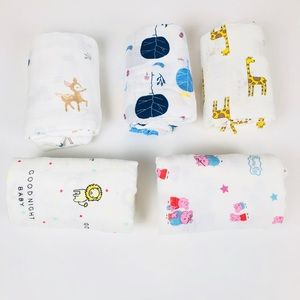 5 Packs of Baby swaddle blanket